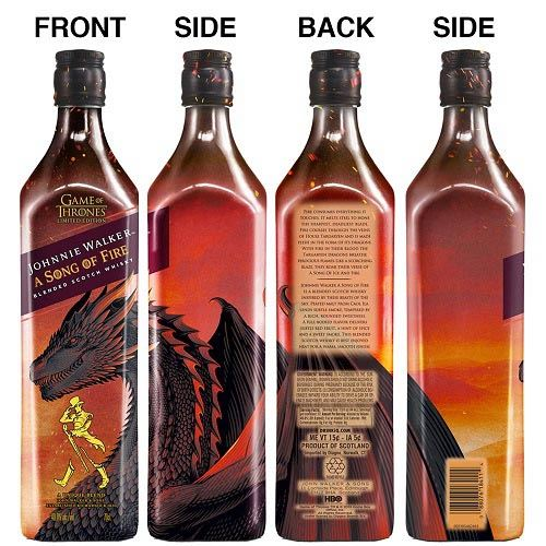 """Immagine di WHISKY JOHNNIE WALKER""""A SON OF FIRE"""" GOT - LIMITED EDITION GAME OF THRONES-70CL"""