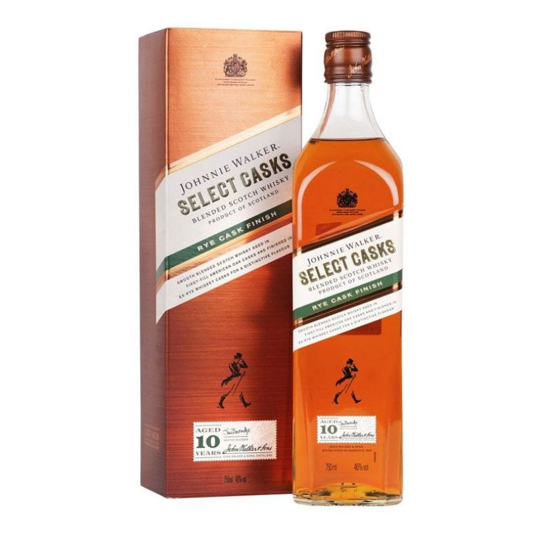 Immagine di WHISKY JOHNNIE WALKER SELECT CASKS-70CL - RYE CASK FINISH AGED 10 YEARS-ASTUCCIATO