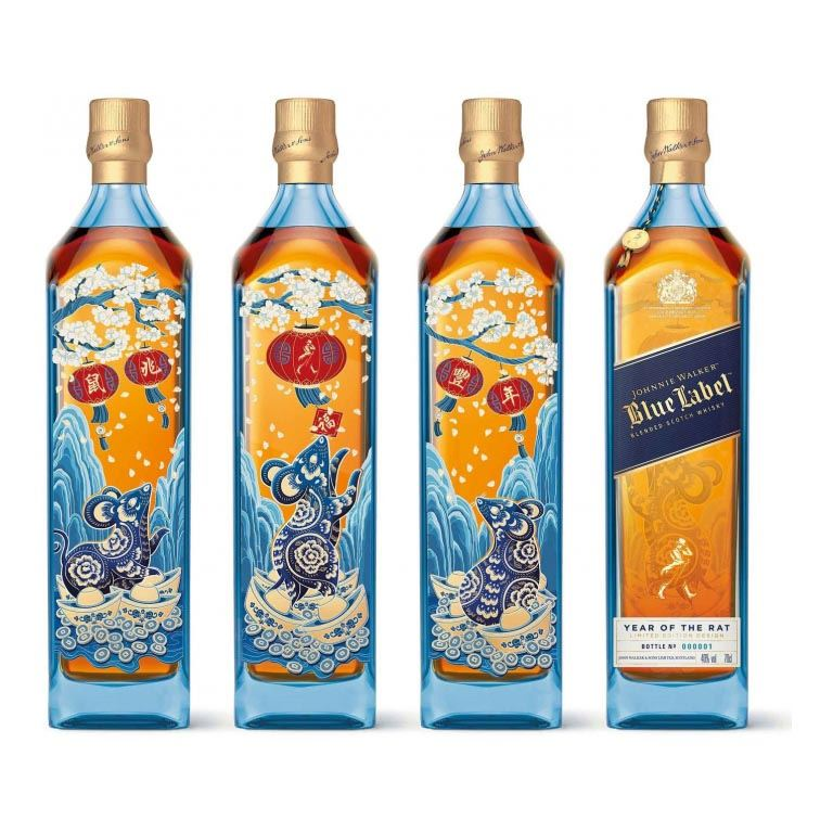 Immagine di WHISKY JOHNNIE WALKER BLUE LABEL-70CL - LIMITED EDITION- THE YEAR OF THE RAT-AS