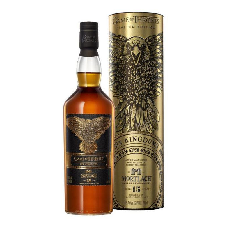 """Immagine di WHISKY MORTLACH""""SIX KINGDOMS""""15YEAR 70CL - LIMITED EDITION- GAME OF THRONES ASTUCCI"""