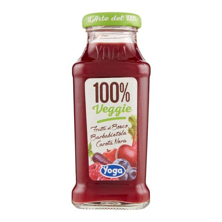 """Immagine di YOGA 100% VEGGIE """"VIOLA"""" - 20CL - Confezione da 12 Bottiglie - FRUT.DI BOSCO BARBABIETOLA E CAROTA NERA"""