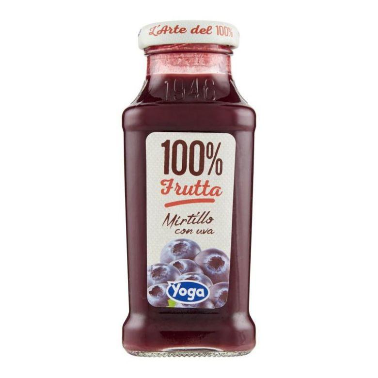"""Immagine di YOGA 100% """"MIRTILLO CON UVA"""" - 20CL - Confezione da 12 Bottiglie -"""