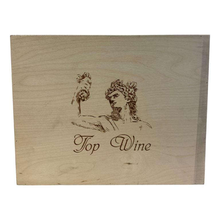 Immagine di CASSETTA VUOTA LEGNO x6 BOTT. TOP WINE - Confezione da 1 Pezzi - CHIUSURA CLIPPER
