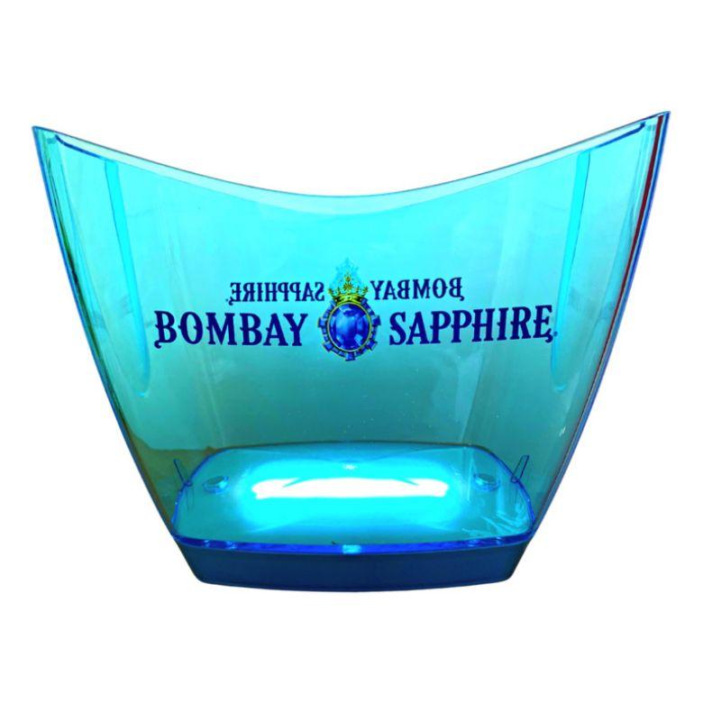 Immagine di SECCHIELLO ICE BOMBAY LED BLU ILLUMINATO - BIG ICE