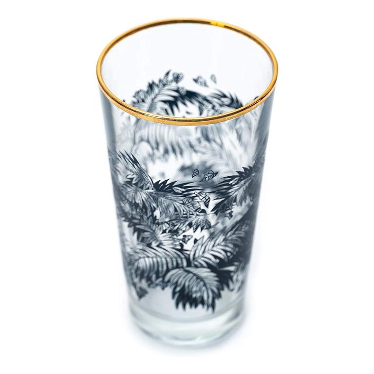 Immagine di BICCHIERE HIGHBALL CON BORDO ORO - Confezione da 6 Bicchieri - BACARDI
