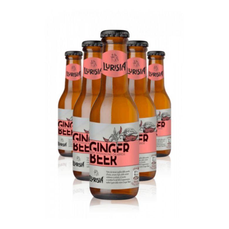 Immagine di GINGER BEER LURISIA CON PEPERONCINO - Confezione da 30 Bottiglie - CALABRESE 150ML