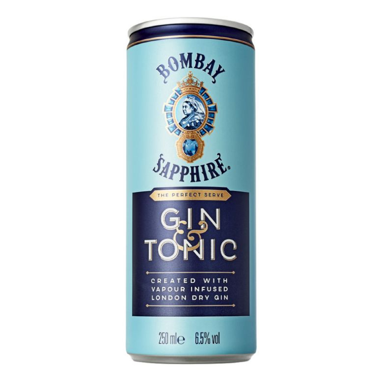 Immagine di BOMBAY GIN & TONIC LATTINA 25CL - Confezione da 12 Barattoli -